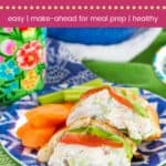 Greek Tzatziki Chicken Salad Pitas Pin Template Dark