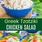 Greek Yogurt Tzatziki Chicken Salad Recipe Pinterest Collage