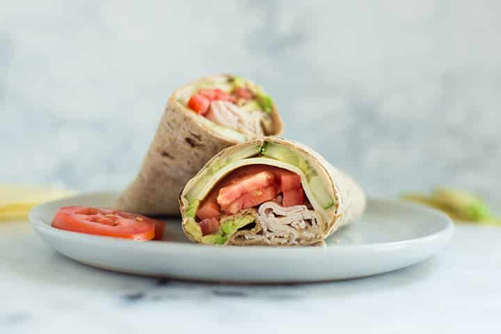 Avocado, Turkey & Hummus Wrap