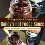 Quick Easy Baileys Fudge Sauce Recipe Pinterest Collage
