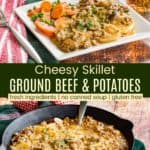 Ground Beef Skillet Recipe Pinterest Collage