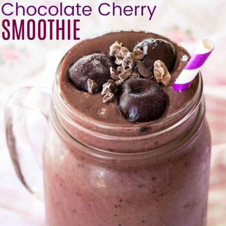 Cherry Chocolate Smoothie Recipe featured image