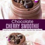 Black Forest Smoothie Recipe Pinterest Collage