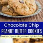 No Flour Chocolate Chip Peanut Butter Cookies Pinterest Collage