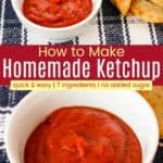 Homemade Ketchup Recipe Pinterest Collage