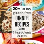Collage of Easy Dinner Recipes with 5 Ingredients or Less