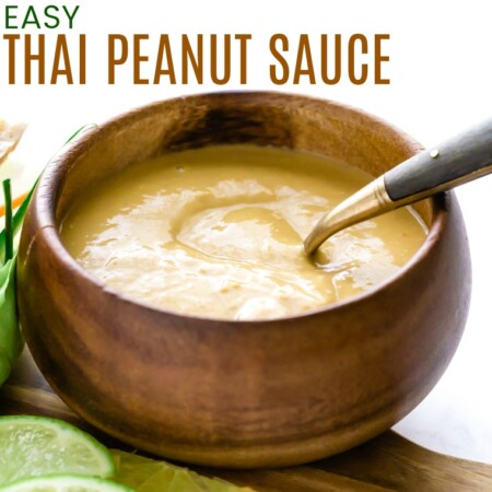 Easy Thai Peanut Satay Sauce Featured Image