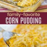 Easy Corn Pudding Pinterest Collage