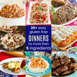 Featured Image of Gluten Free Dinner Recipes with 5 Ingredients or Less