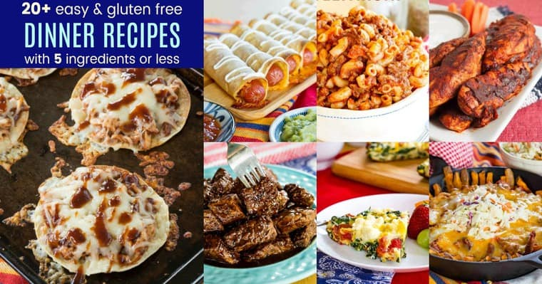 Gluten Free Easy Dinner Recipes with 5 Ingredients or Less