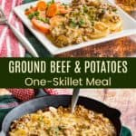 Ground Beef and Potatoes Skillet Meal Pinterest Collage