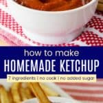 Homemade Ketchup Pinterest Collage