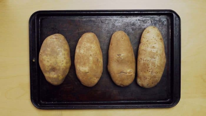Prepare baked potatoes