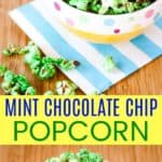 Mint Chocolate Chip Green Popcorn Recipe Pinterest Collage