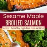 Sesame Maple Salmon Pinterest Collage