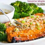 Sesame Maple Salmon Recipe Featured Image