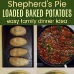 How to make Shepherds Pie Loaded Baked Potatoes