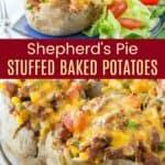 Shepherds Pie Loaded Baked Potato Recipe Pinterest Collage