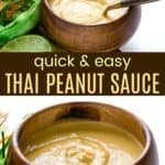 Thai Peanut Sauce Recipe Pinterest Collage