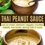 Thai Peanut Satay Sauce Recipe Pinterest Collage