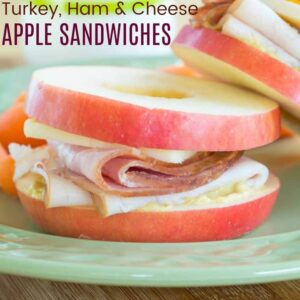 Turkey Ham and Cheddar Apple Sandwiches recipe featured image