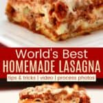 Best Lasagna Pinterest Collage