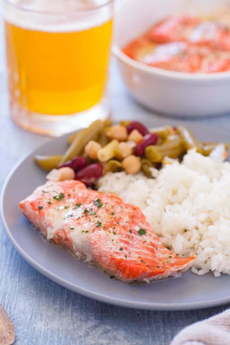 Microwave Lemon Pepper Salmon