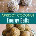 Coconut Apricot Energy Balls Pinterest Collage