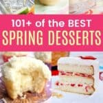 Best Spring Desserts Pinterest Collage