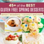 Gluten Free Desserts for Spring Pinterest Collage