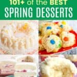 Best Desserts for Spring Pinterest Collage