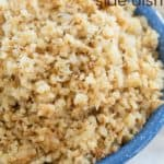 Brown Butter Cauliflower Rice Side Dish Recipe with title