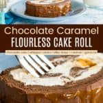 Milky Way Flourless Chocolate Cake Roll Recipe Pinterest Collage