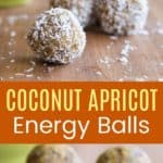 Apricot Date Energy Balls Pinterest Collage