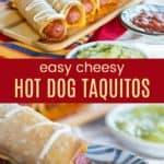 Hot Dog Taquitos Pinterest Collage