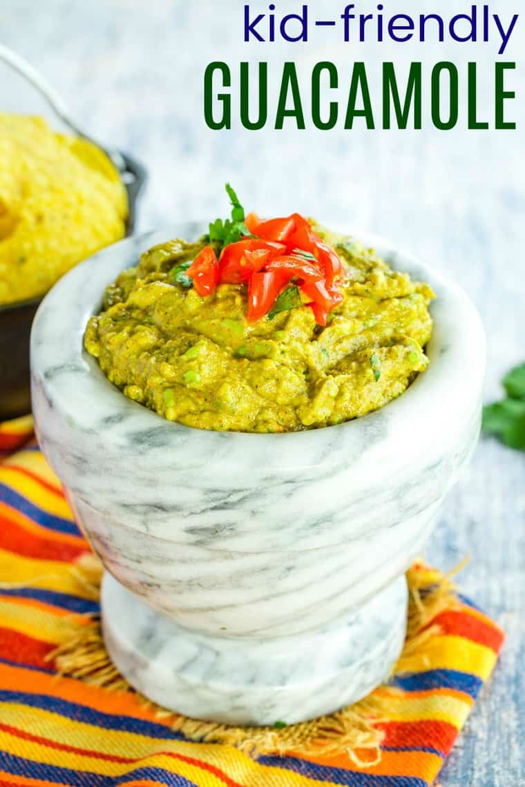 Kid-Friendly Guacamole Recipe Image with title