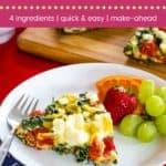Tomato Spinach Feta Frittata Pin Template Dark