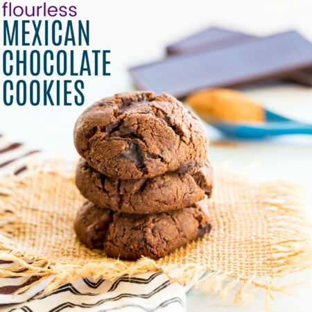 Spicy Mexican Chocolate Cookies with title text