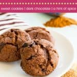 Flourless Mexican Hot Chocolate Cookies Pinterest Collage