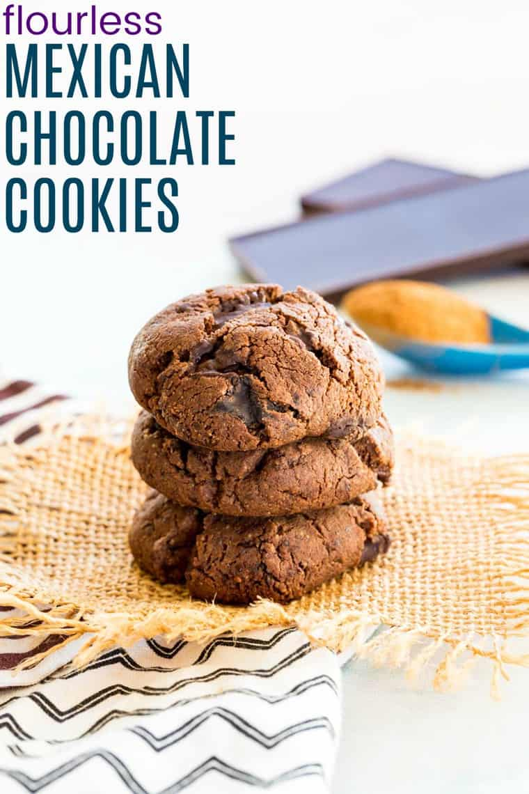 Flourless Mexican Chocolate Cookies Recipe Image with title