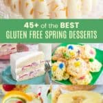Gluten Free Spring Desserts Pinterest Collage