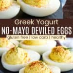 Healthy Deviled Eggs Pinterest Collage