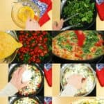 Step by Step Process Shots of How to Make A Spinach Tomato Feta Frittata
