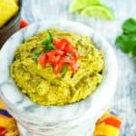 Easy Guacamole That Kids Love Recipe Image with Title