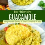 Easy Guacamole for Kids Pinterest Collage