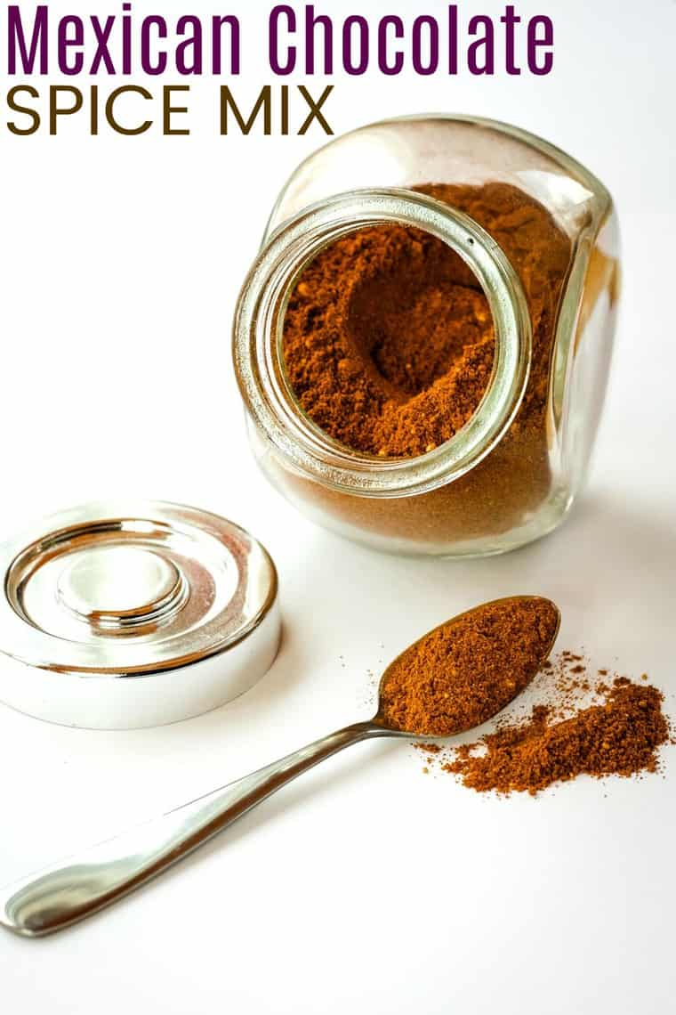 Mexican Chocolate Spice Mix Recipe image with title