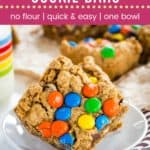 Monster Cookie Bars Pin Template Dark