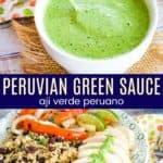 Peruvian Aji Sauce Recipe Pinterest Collage