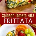 Spinach Feta Frittata Recipe Pinterest Collage
