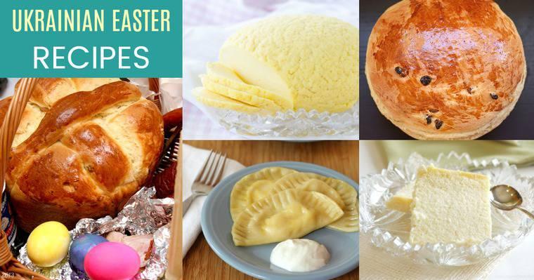 Ukrainian Easter Recipes including paska, hrudka, syrnyk, and pierogies